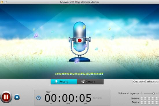 Registratore Audio per Mac