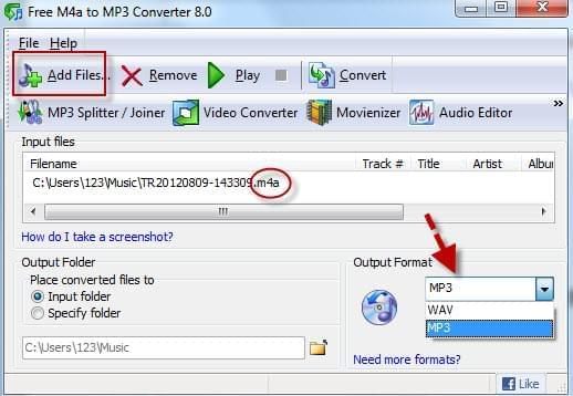 convertitore m4a mp3