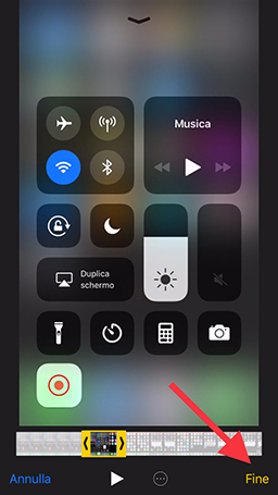 Modifica video registrato iOS 11