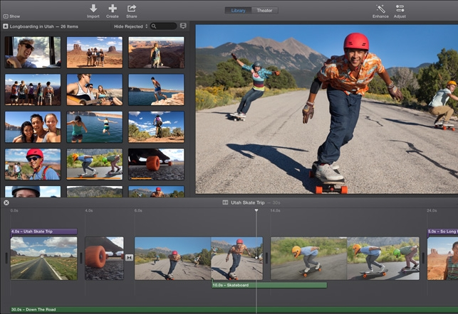 iMovie programmi a disposizione per fare video